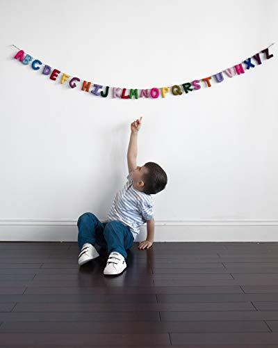 Alphabet Garland/ABC Toy/Alphabet Wall Hanging/Decor Art Garland/Natural Wool Felt/Nursery Decor/Baby Room