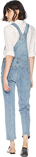 Juicy Couture Women's High-Waisted Cropped Denim Overall Big Sur Wash 0 by Juicy Couture (Image #2)