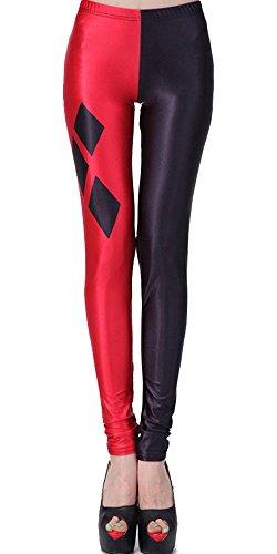 SlickBlue Harley Quinn Print Ankle Length Leggings -