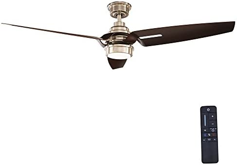 Home Decorators Collection Iron Crest 60 in. LED DC Motor Indoor Brushed Nickel Ceiling Fan