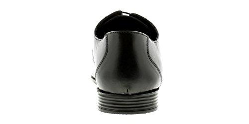 Business Class Cuero Hombre Superior Formal Zapato Tres Orificios Cierre DE Encaje Y Stitch Detalle A La Parte Superior Ideal Para La Oficina, Ocasión Especial o Una nioght Pierdas - B
