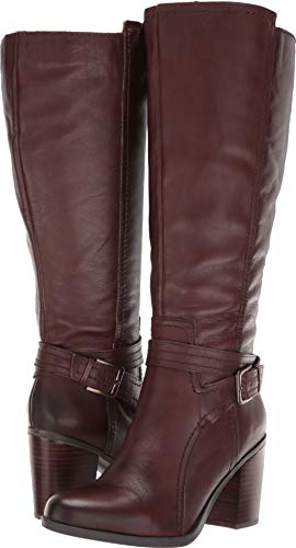 Naturalizer Women's Kelsey Wide Calf Chocolate Leather 4 M US ()
