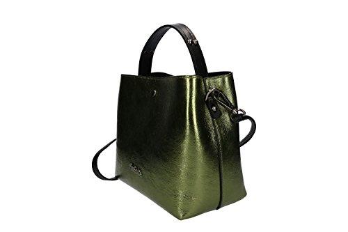 Pam Shop Tasche Damen mit Schultergurt Pierre Cardin Grün Leder Made in Italy VN277