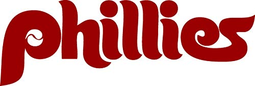 (TDT Printing & Custom Decals Philadelphia Phillies Vinyl Decal Sticker for Car or Truck Windows, Laptops)