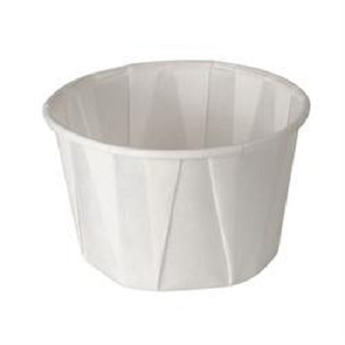 White Treated Paper Souffle Portion Cups for Measuring, Medicine, Samples, Jello Shots Pack of 250 CulinWare