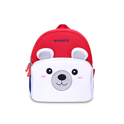 Kids Backpack Girls Boys Plush Polar Bear Preschool Cartoon Toddler Backpack for 1-3 years -