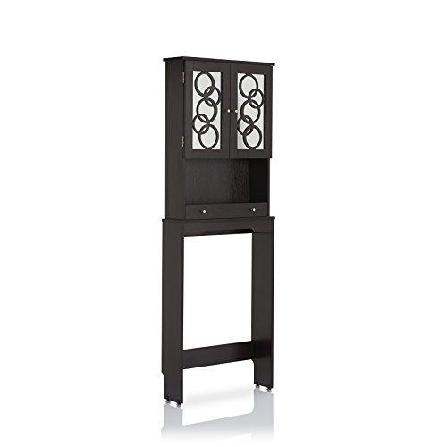 24/7 Shop at Home 247SHOPATHOME IDI-151149 Cirka Mirror Bathroom Storage Cabinet, Cappuccino