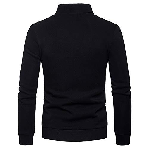 Noir Parka Couleur Unie Slim Trench Veste Simple Caban Coat Homme Manteau Chaud Hiver Casual Sliktaa Fit ZAqYO