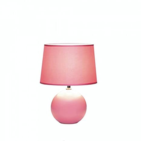 Ceramic Sphere Base Table Lamp Pink Amazon Com