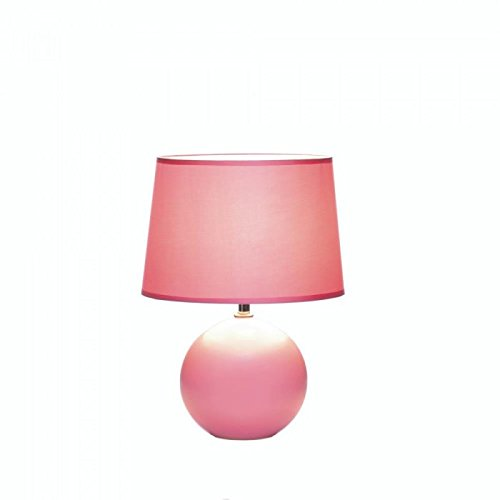 Ceramic Sphere Base Table Lamp - Pink by Gallery of Light