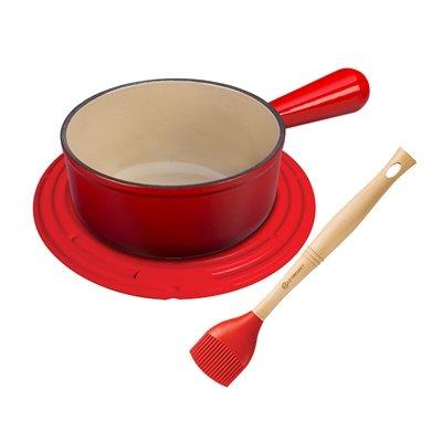 Le Creuset MM1603-67 BBQ Sauce Set, 1 1/8 qt, Cerise