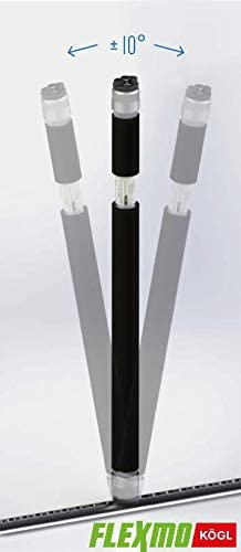 Flexmo 2 x Airline-Beam Schutz/überzug schwarz Sperrbalken f/ür Airlineschienen 1500-2200 mm Ladungssicherung