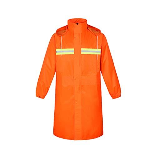 JTWJ Wasserdichter Regenmantel mit Regenmantel für Erwachsene (Farbe   Orange, größe   L)