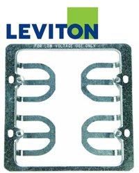 Leviton C0225 Wallplate Mounting Bracket, 2 Gang