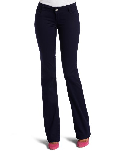 Southpole Juniors Basic Bootcut Pant, Navy, 7 - Separates Basic Pant