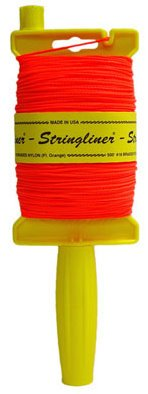 Stringliner 11759 Original Stringliner Holder with 500' Braided Fluorescent Orange #18 Construction Line by Stringliner