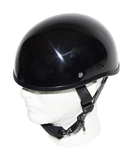 EXCELSIOR INT SOA Beanie Novelty Shiny Black Motorcycle Half Helmet