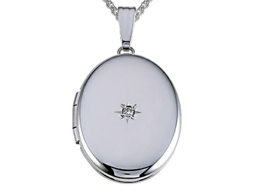 Medium Oval Locket Pendant Necklace 14kt by Finejewelers