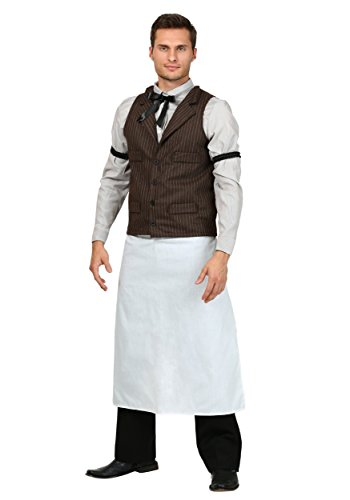 Adult Old West Bartender Costume - -