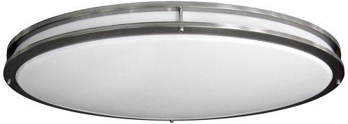 nickel oval wide ceiling light