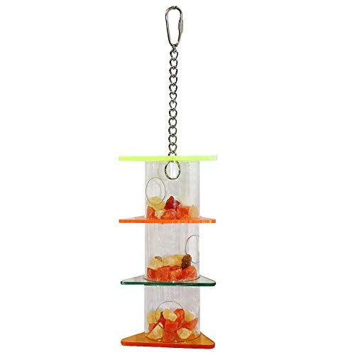 Triple Treat Tower - Durable Interactive Multi-Level Treat Foraging Toy & Accessory - For Sugar Gliders, Rats, Ferrets, Squirrels, Parrots, Birds, Marmosets, Opossums & Other Small Pets