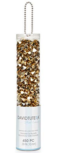 (DAVID TUTERA 450 Metallic Gold Diamond Shape Gems Vase Wedding Tables)