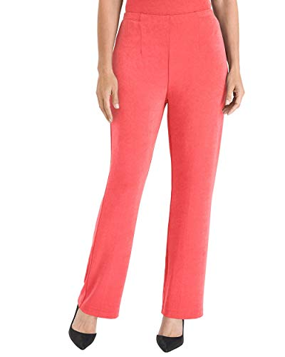 Chico's Women's Travelers Classic No Tummy Pants Size 4 S (0 REG) Orange