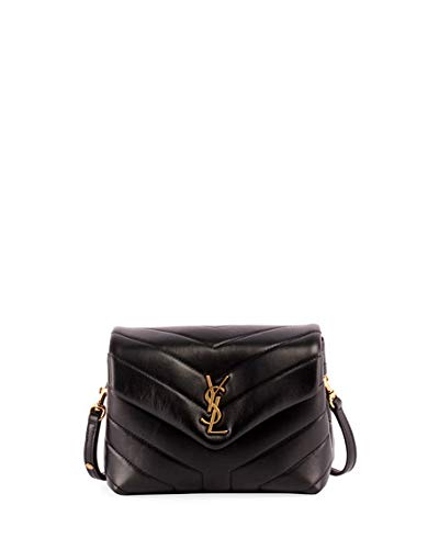 Saint Laurent Loulou Monogram YSL Mini V-Flap Calf Leather Crossbody Bag -  Lt. Bronze Hardware  Handbags  Amazon.com 214fdcfef8cc7