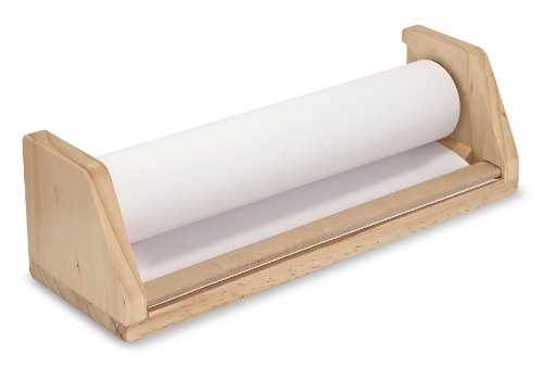 Melissa & Doug Wooden Tabletop Paper Roll Dispenser With White Bond Paper (12 inches x 75 ()