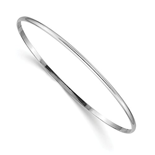 14k White Gold 2mm Solid...