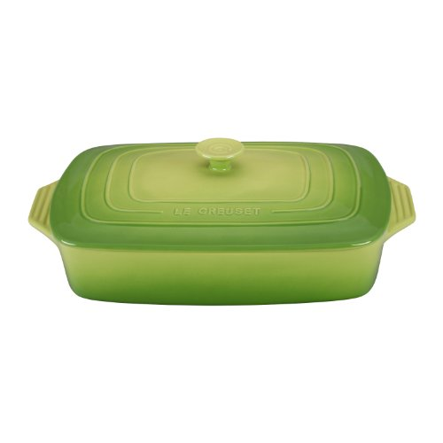 Le Creuset Stoneware Covered Rectangular Casserole, 12.5-Inch by 8.5-Inch, Palm
