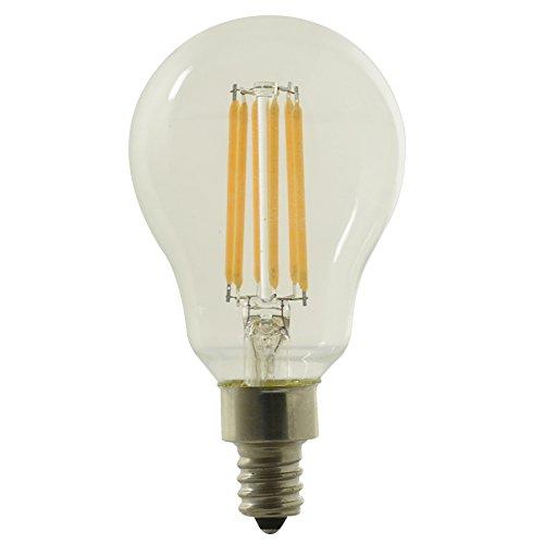 Kichler 60W Candelabra base Equivalent 5w Dimmable a15 Vintage LED Decorative Light Bulb Vintage Antique Style Light (Kichler Incandescent Candle)