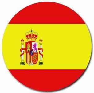 Alfombrilla de ratón redonda de la bandera de España alfombrilla de ratón: Amazon.es: Hogar