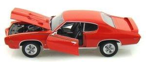 Orange 1969 Pontiac Gto Judge 1:24 Scale Diec Cast Car