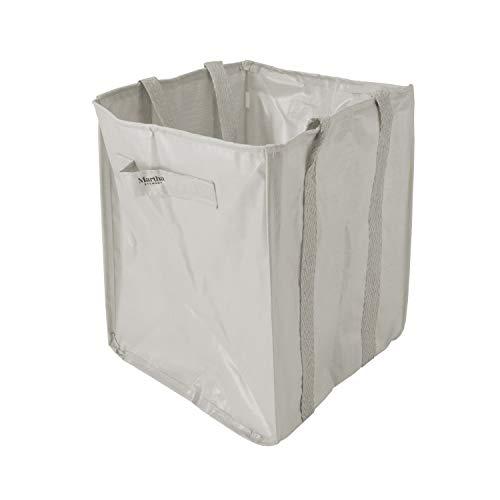 MARTHA STEWART MTS-MLB1-MPL 48-Gallon Multi-Purpose Reusable Heavy Duty Garden Tote Bag, Slate from MARTHA STEWART