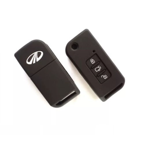 HOMMER Silicone Car Key Cover fit for Mahindra XUV 500 Flip Key
