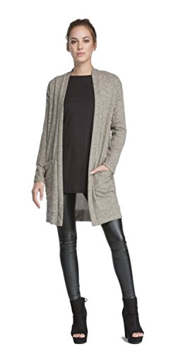 Cherish Women's Long Knit Open Cardigan with Side Pockets (Small, New (New Knit Sweaters)