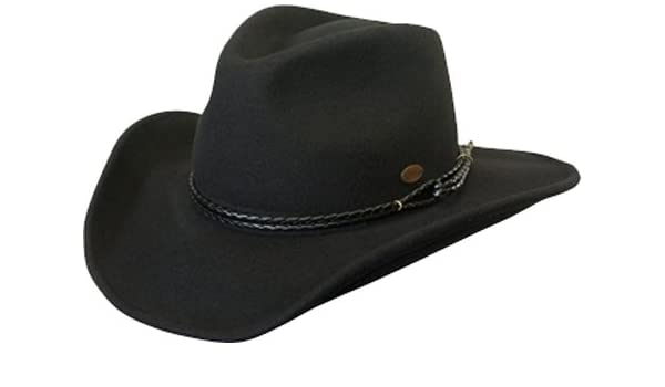 af89ad104fd Conner Hats Men s Outlaw Western Shapeable Wool Hat at Amazon Men s  Clothing store