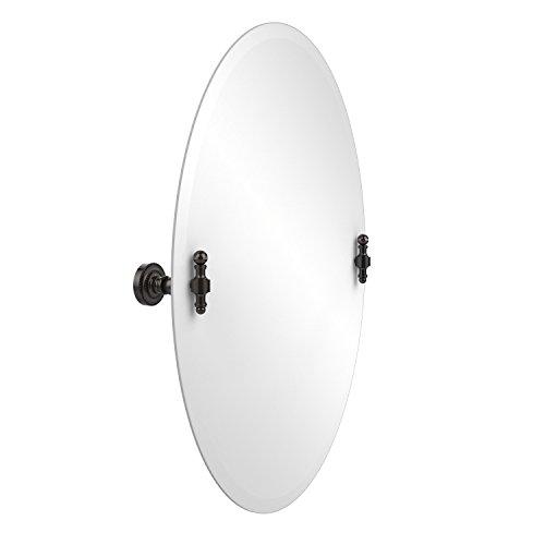 (Allied Brass RD-91-ORB Frameless Oval Tilt Mirror with Beveled Edge, Oil Rubbed Bronze )