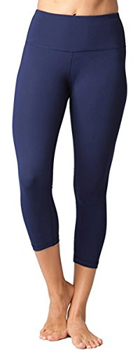 FIRM ABS Power Flex Yoga Pants Tummy Control Workout Leggings 4 way Stretch Yoga Pants With Pockets,Navy Blue,X-Large (Jacket Abs)