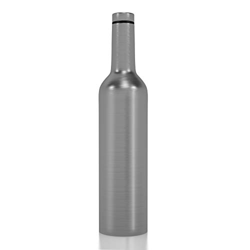 Stainless Steel Wine Bottle - Spirit & Wine Growler - 750ml 25oz Vacuum Insulated Wine Bottle - Double Walled Travel Flask with a Screw Top Leak Proof Lid - Perfect Gift for Wine Travel ()