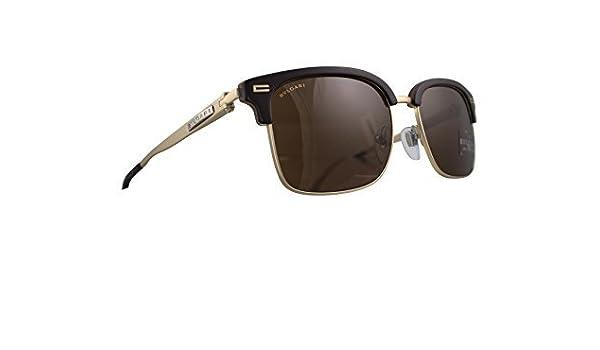9ad7c53845 Bvlgari Sunglasses 7026 535673 Dark Brown Sand Horn Brown  Amazon.ca   Clothing   Accessories