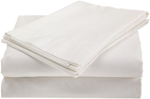 EasyMaid 200-Thread Count Connected Bed Sheets, Full, White