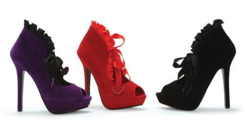 Ellie Velvet Women's Toe Velvet Peep Boots Shoes Purple Adult rqfOZxr