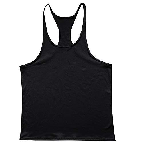 Manche En Sportifs Débardeurs Gym Rond Stringers Y Gilet Coton Col Sans dos Homme Noir Fitness Ymysfit Pure qEIPT