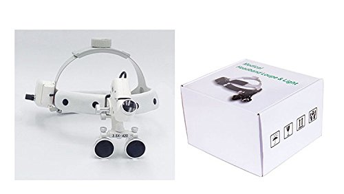 Zgood 3.5X 5W LED Surgical Medical Headband Loupe with Light silver DY-106