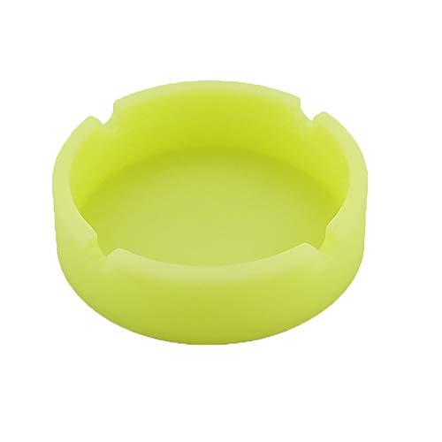 - Luminous Silicone Rubber High Temperature Heat Resistant Round Design Ashtray