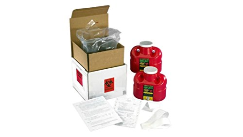 SUPPLY-117 2 QTY ONE GALLON SHARPS DISPOSAL (Mail Away Sharps Container)