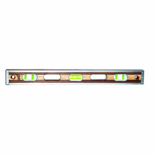 Bon 21-108 24-Inch Smith Walnut and Maple Level with Stainless Steel Rails, Green Vials