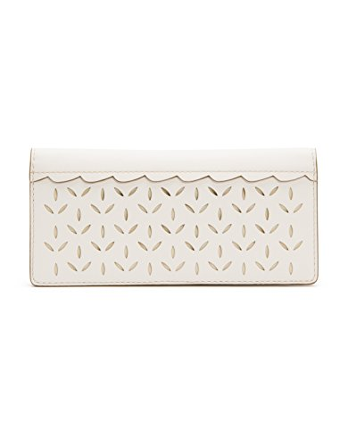 (FRYE Women's Ilana Perf Continental Snap Slim Wallet, White, One Size)